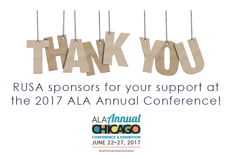 Thank you RUSA Annual Conference sponsors