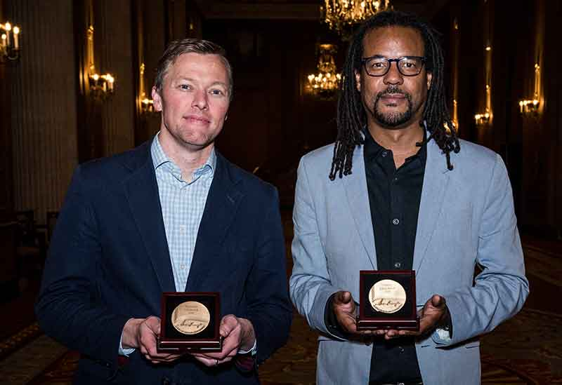 Matthew Desmond (left) and Colson Whitehead (right)