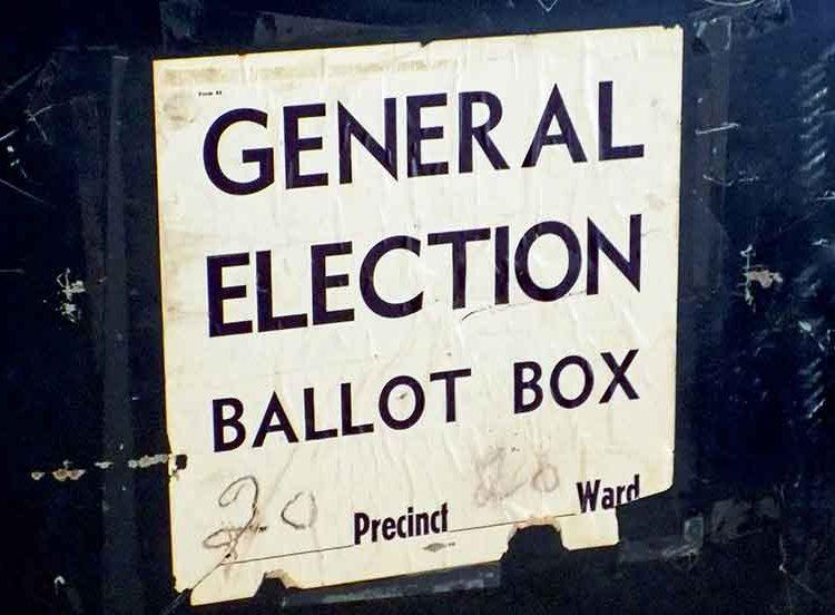 ballot box sign